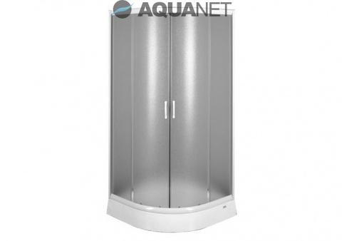 Душевой уголок с поддоном Aquanet AQ7 90x90, узорчатое стекло, профиль хром