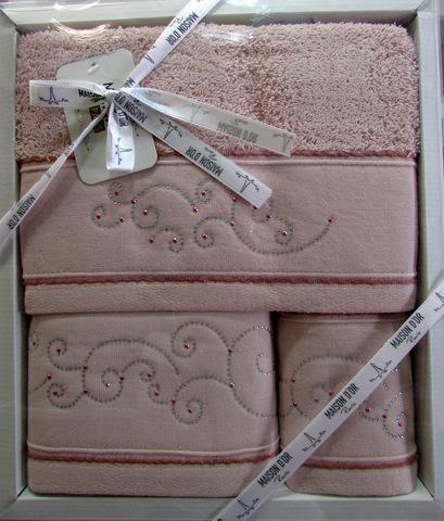 Набор полотенец  DALIY - ДАЛИИ 3пр 30х50 50х90 и 70х140 Maison Dor (Турция)