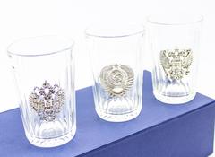 Подарочный набор из 3 граненых стаканов «Неподвластный времени», фото 4