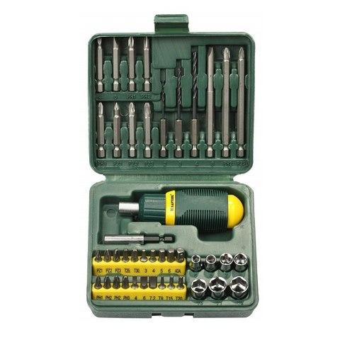 KRAFTOOL Kompakt-43 набор: реверсивная отвертка с насадками 43 шт