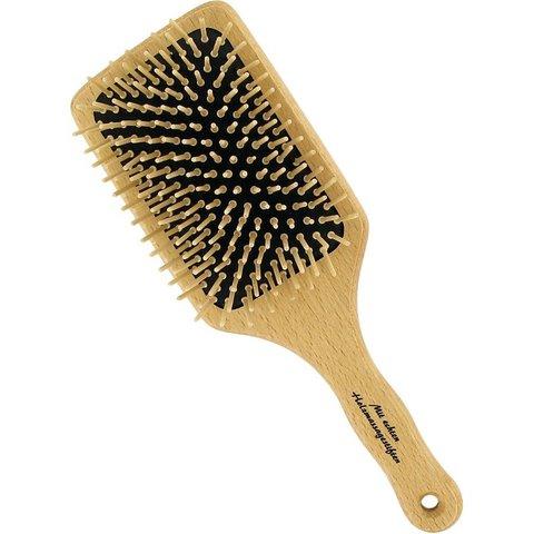 Деревянная щетка для волос прямоугольная с деревянными зубчиками Forster's