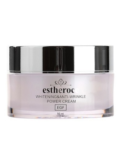 Deoproce Estheroce Whitening And Anti-Wrinkle Power омолаживающий крем с EGF против морщин и пигментации