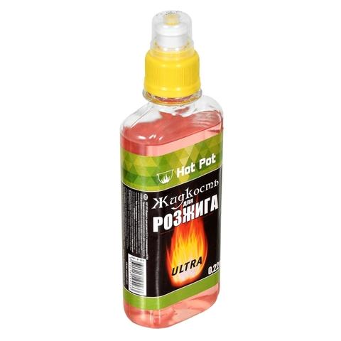 Жидкость д/розжига HOT-POT 0,22 л Углеводородная РОССИЯ