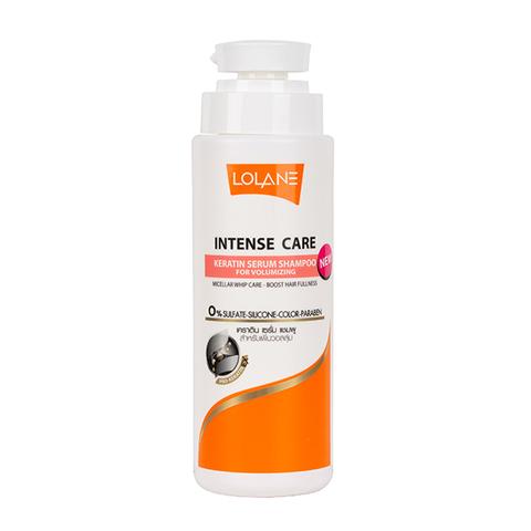 Натуральный шампунь для увеличения объема волос Lolane Intense Care Keratin Serum Shampoo For Volumizing 400 мл