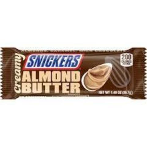 Батончик Snickers Almond Butter миндальный крем 40 гр