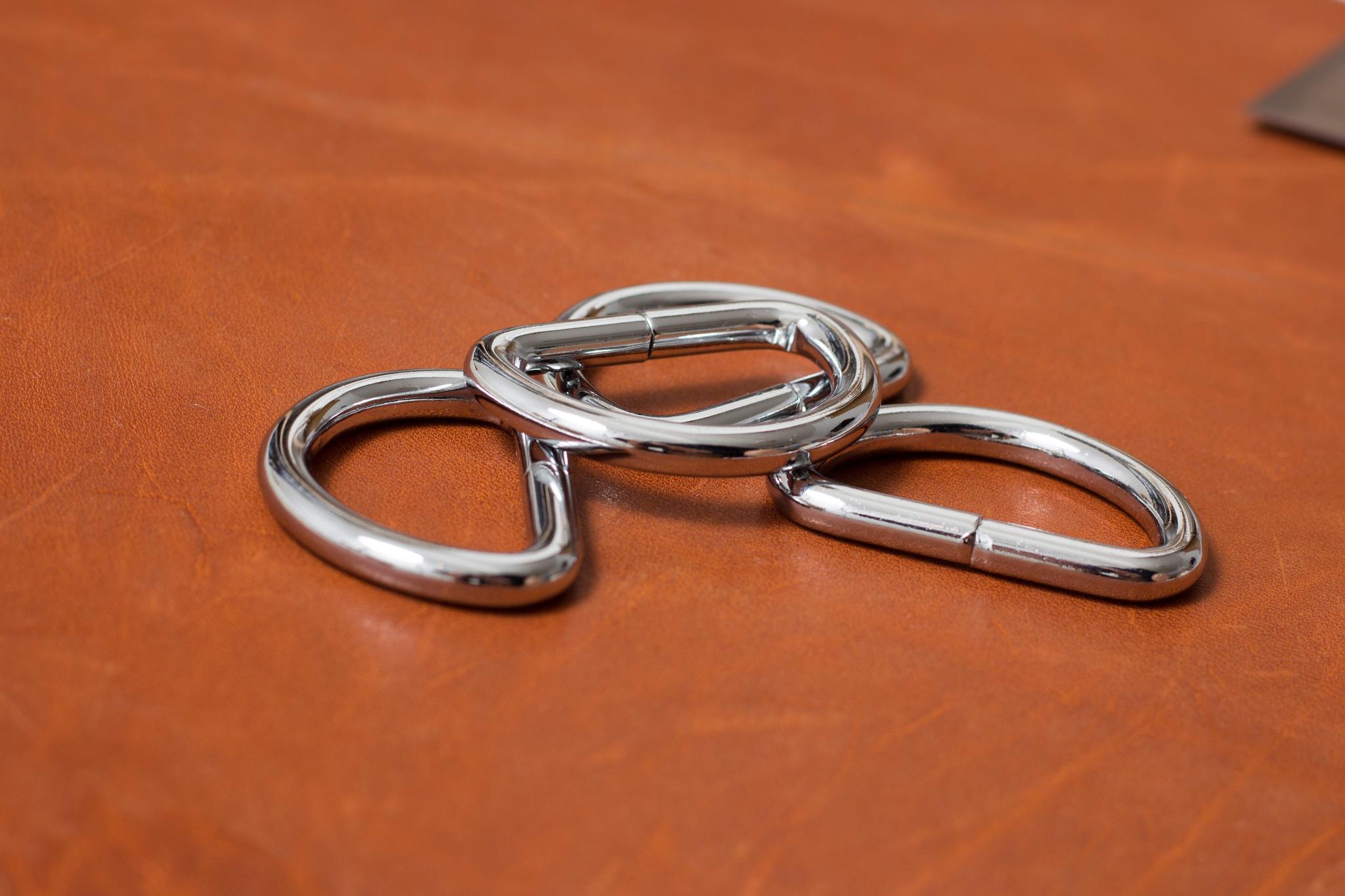 Полукольцо 32 мм - никель.