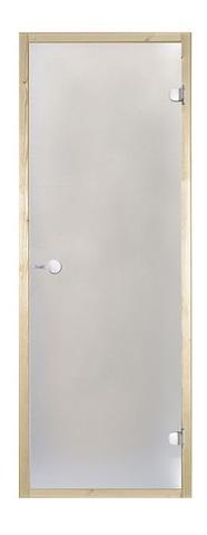 Дверь стеклянная Harvia 7х19, коробка ольха, стекло сатин, артикул D71905L