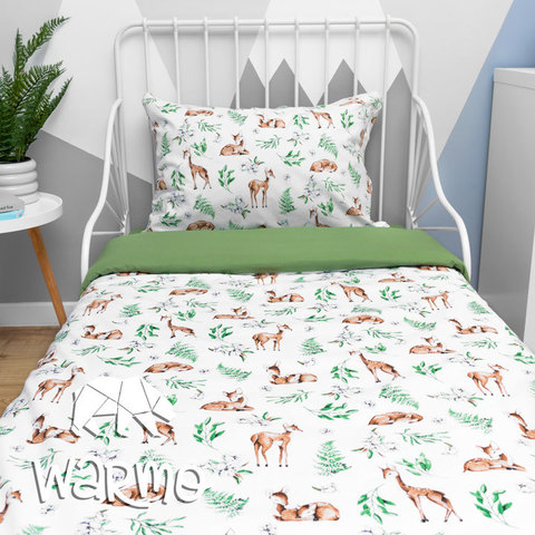 Комплект дитячої постільної білизни Warmo™ ОЛЕНІ 1,5-спальний