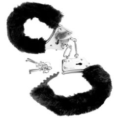 Металлические наручники с мехом Beginner's Furry Cuffs черные
