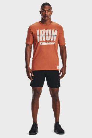 Мужская оранжевая футболка UA Pjt Rock Iron Paradise SS-ORG Under Armour