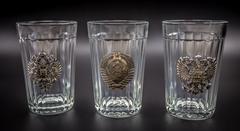 Подарочный набор из 3 граненых стаканов «Неподвластный времени», фото 2