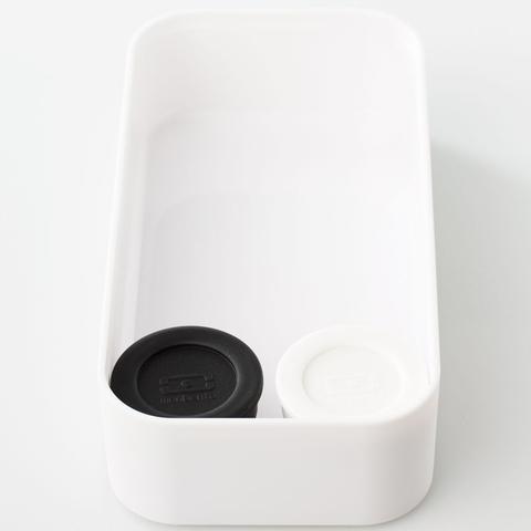 Соусницы с крышкой Monbento Temple 2 шт, (0,2 литра), черная+белая