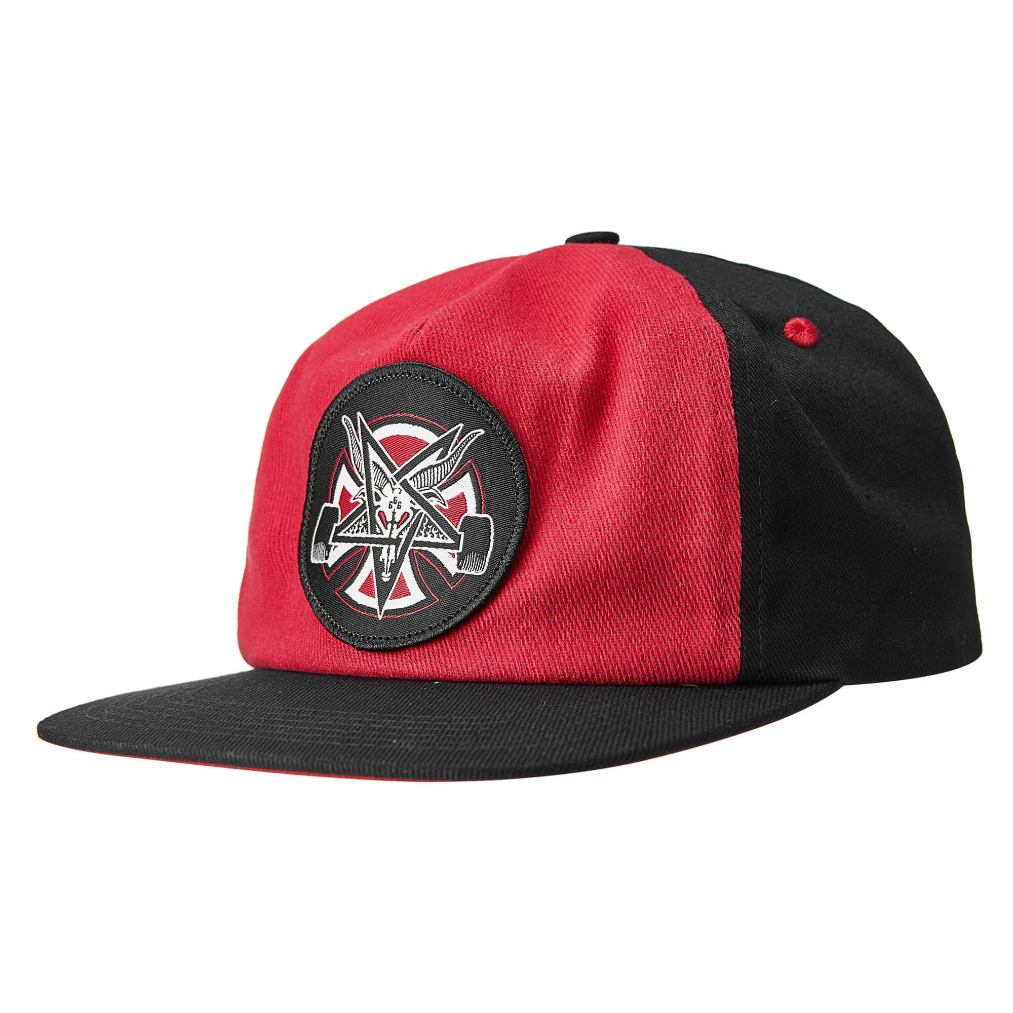 Кепка INDEPENDENT x THRASHER Pentagram Cross Snapback (Cardinal/Black)