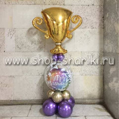 композиция из шаров на день рождения мужчине/мальчику с днем рождения чемпион