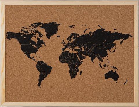 Доска пробковая «Карта мира» 40х50 см