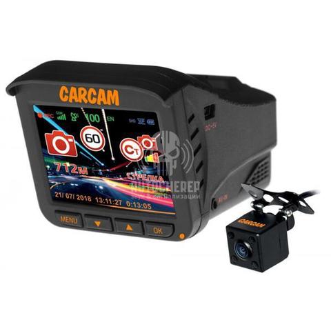 Видеорегистратор с радар-детектором Каркам КОМБО 5S с камерой заднего вида