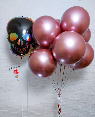 Большие шары розовые хром
