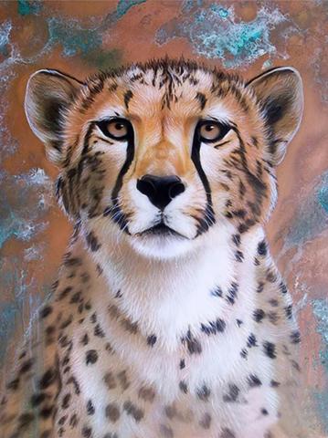 Алмазная Мозаика 20x30 Глубокий взгляд леопарда (арт. TCH8376)