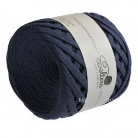 Трикотажная пряжа Saltera 111 темно-синий меланж , фото
