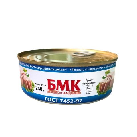 Тунец натуральный, БМК, 240г