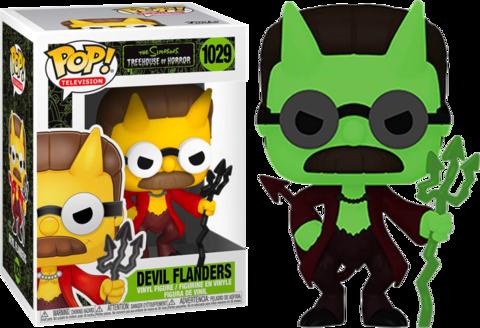 Фигурка Funko Pop! Animation: The Simpsons - Devil Flanders (GitD)  (Excl. to Amazon)