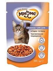 Пауч для кошек Мнямс с ягненком в соусе, чувствительное пищеварение
