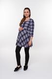 Туника для беременных 01836 синий