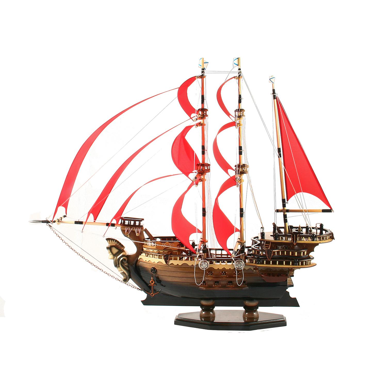 Модель деревянного корабля Алые Паруса