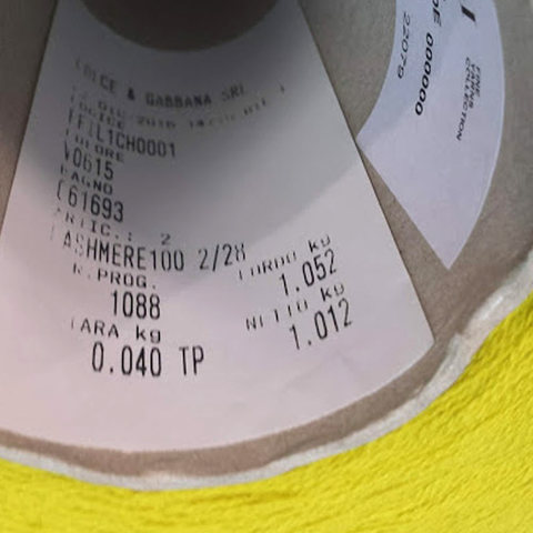 Кашемир 2/28 CARIAGGI / CASHMERE 100 горчичный