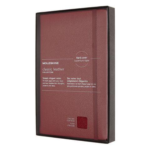Блокнот Moleskine LIMITED EDITION LEATHER LCLH31SF1BOX Large 130х210мм натур. кожа 192стр. линейка мягкая обложка красный