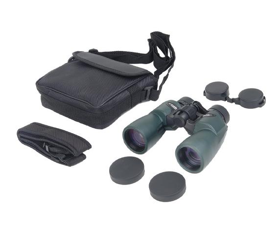 Бинокль Veber ED 10x42 WP green - комплект поставки, сумка-чехол, гарантийный талон