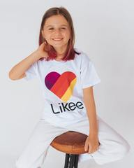 Футболка ЛАЙК, цвет белый