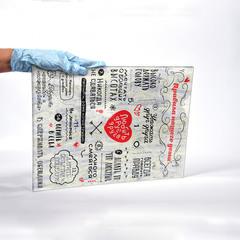 Картина на стекле для интерьера мотиватор Правила дома 28х40 см/ Мотивирующий постер светлый