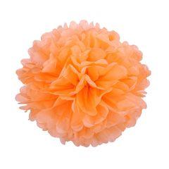 Помпон из бумаги 30 см светло-оранжевый