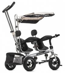 Детский трёхколёсный велосипед для двойни