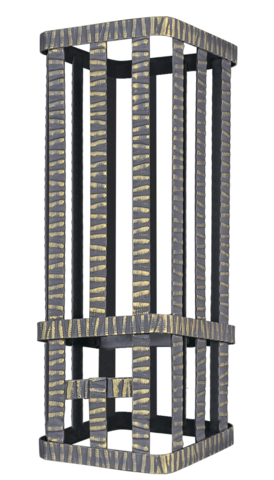 Сетка на трубу для Ураган 250х250х750 Гром 30 под шибер