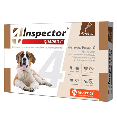 INSPEСTOR Quadro K (Инспектор) для собак 40 -60 кг 1 пип.