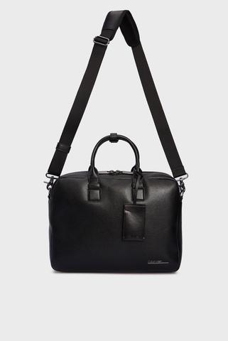 Мужская черная сумка  для ноутбука LAPTOP BAG W  PCKT Calvin Klein