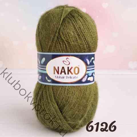 NAKO MOHAIR DELICATE 6126, Зеленый