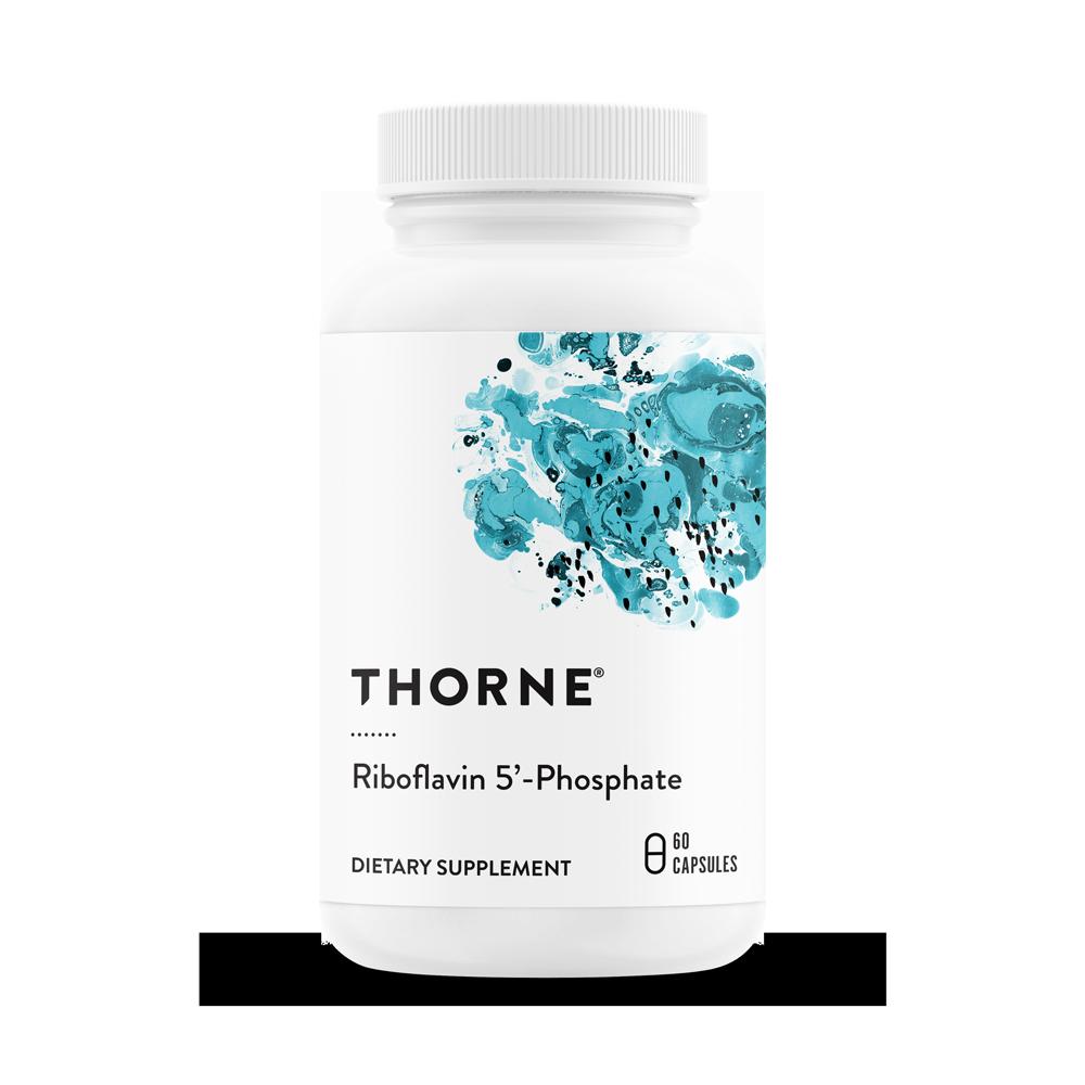 Витамин B2, Рибофлавин 5' фосфат, Riboflavin 5'-Phosphate, Thorne Research, (60 капсул)