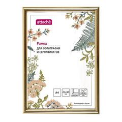 Рамка пластиковая Attache 21x30 (A4) ПЭТ  Золотая (глянец)