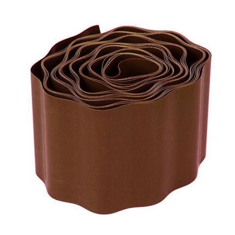 Лента бордюрная гофрированная h10см 9м цвет коричневый Урожайная сотка