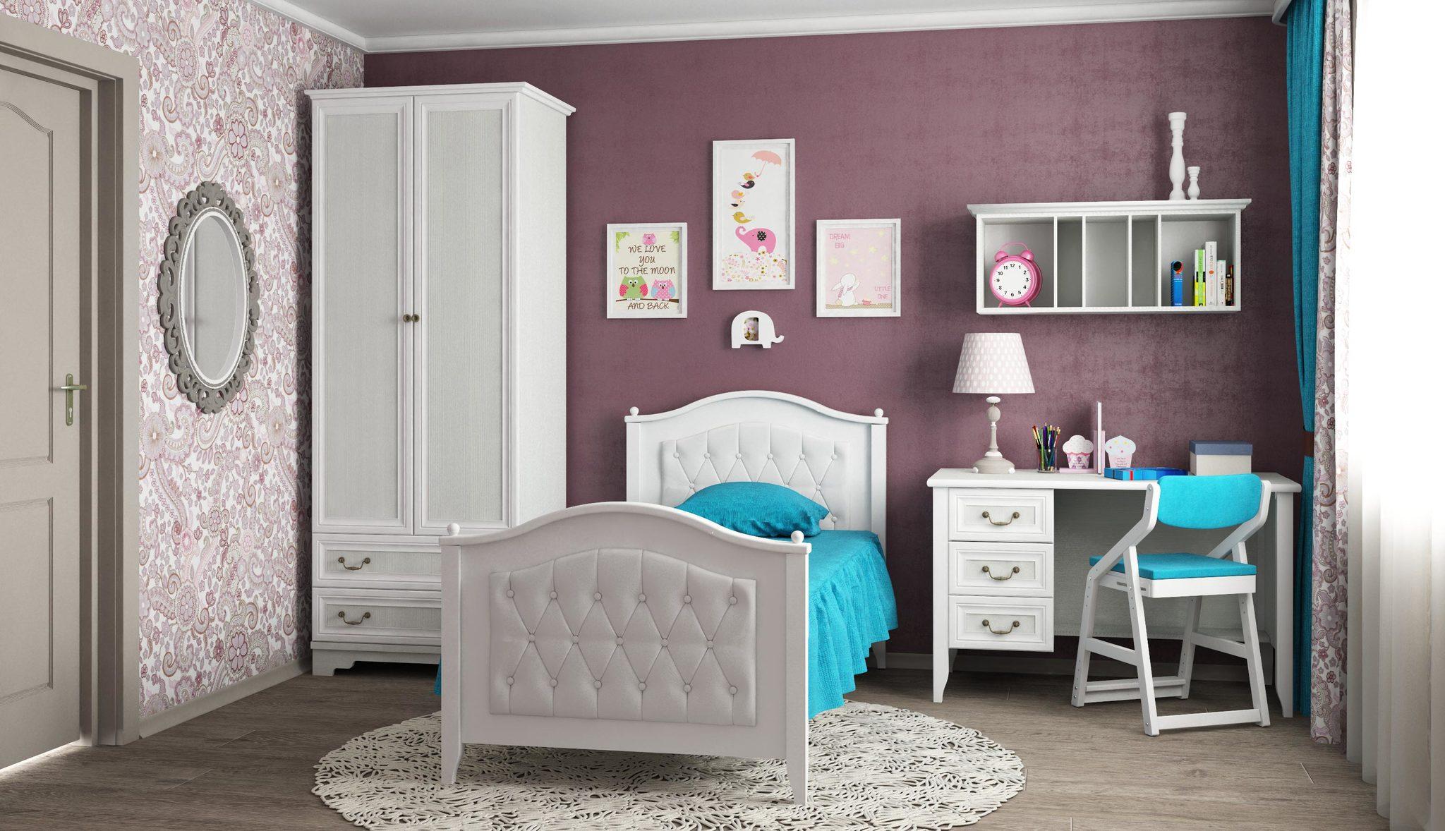 Кровать остравная с каретной стяжкой Классика