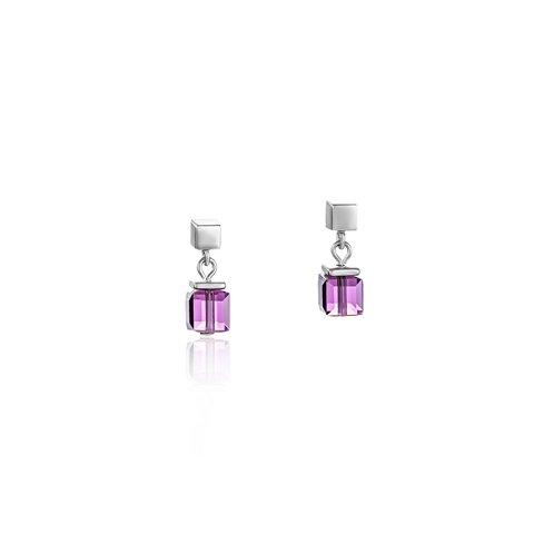 Серьги Amethyst 4996/21-0824 цвет фиолетовый, серебряный