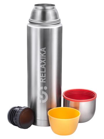 Термос Relaxika 102 (1,2 литра), 2 чашки, стальной