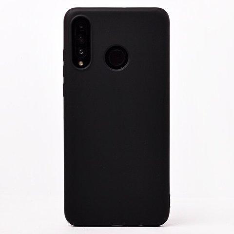 Чехол для Huawei Honor 20S/20 Lite/P30 Lite Софт тач мягкий эффект | микрофибра черный