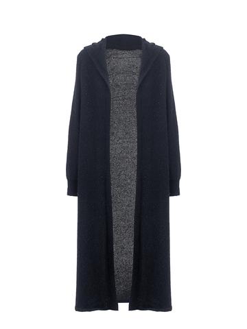 Женский кардиган черного цвета из ангоры - фото 1