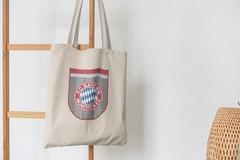 Сумка-шоппер с принтом FC Bayern München (ФК Бавария) бежевая 002