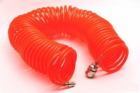 Шланг спиральный 10м с быстросъемным соединением СЕРВИС КЛЮЧ (70606)