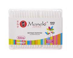 """Ватные палочки """"Maneki"""" в коробке 100шт"""